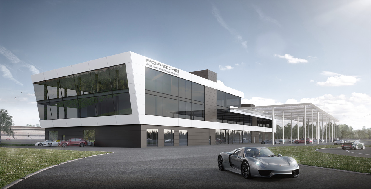 Porsche Experience Center >> Topping Out Ceremony Of The Porsche Experience Center At The