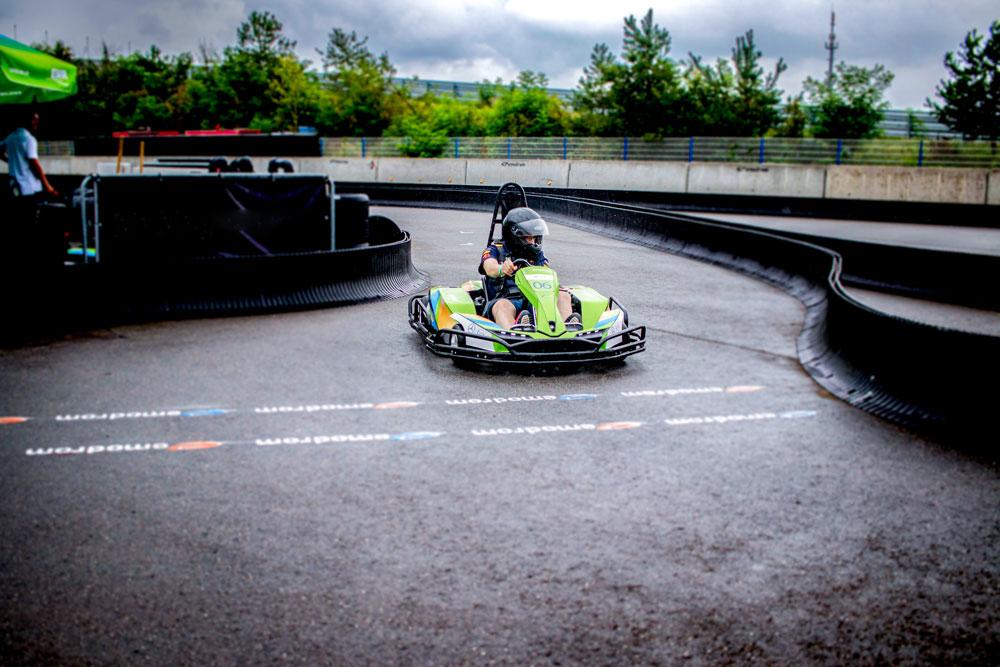 e-Kart fahren auf dem Hockenheimring