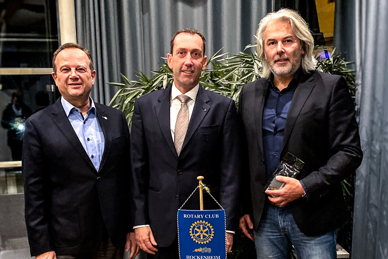 Emodrom Boss Visits Rotary Club Hockenheim